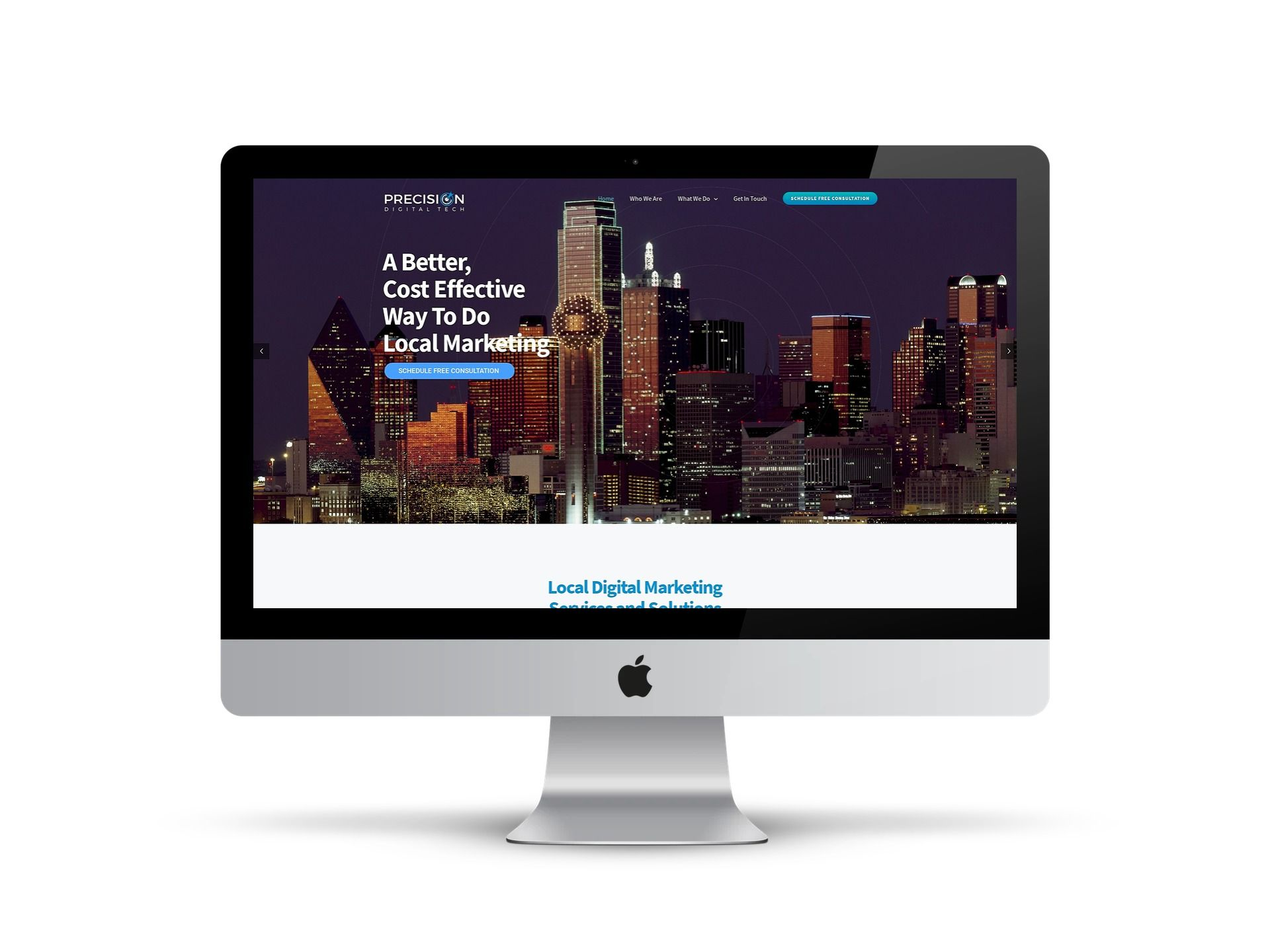 Precision - - home page on screen