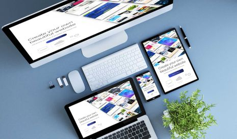 Website design optimized for devices