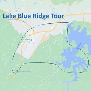 lake blue ridge map