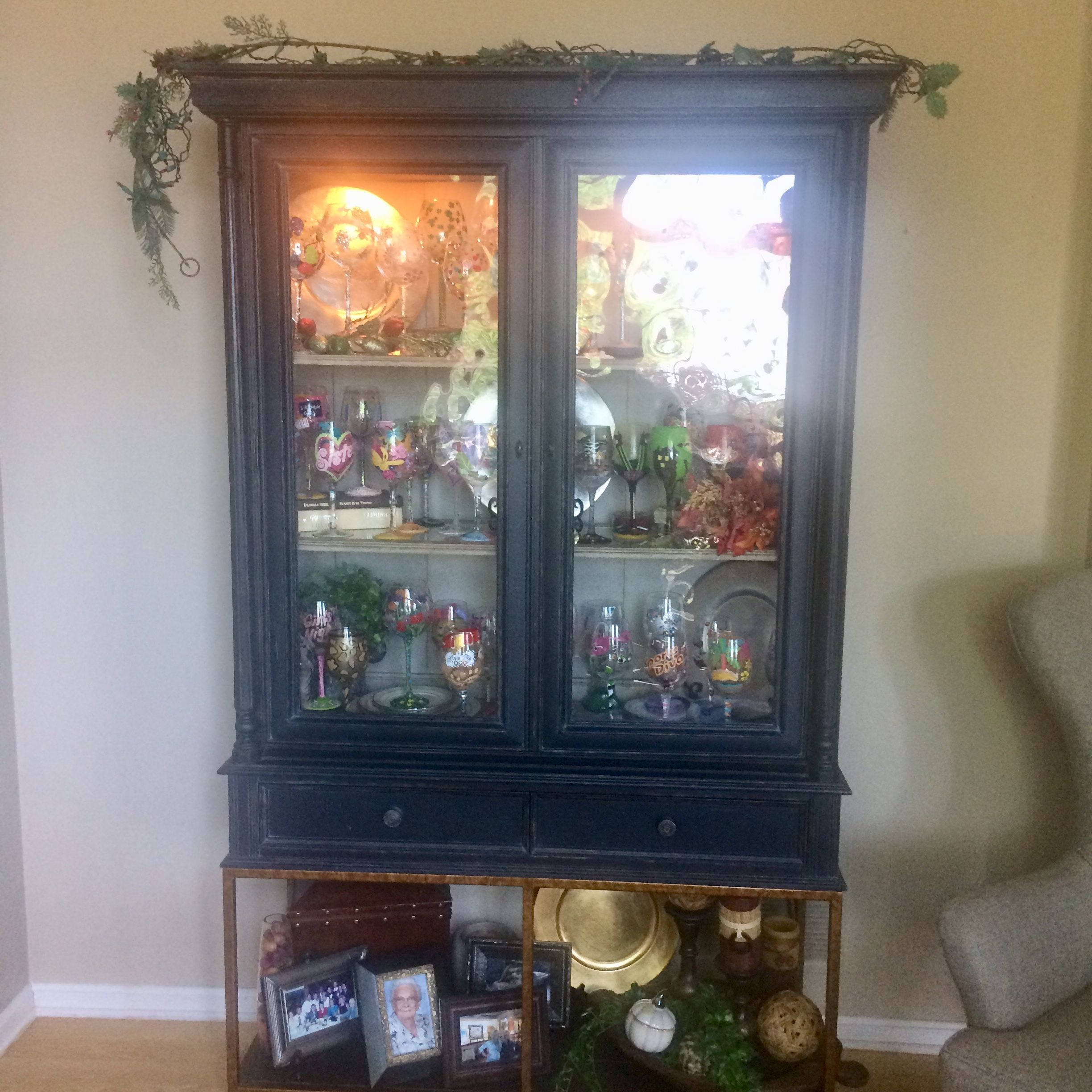 old english cabinet