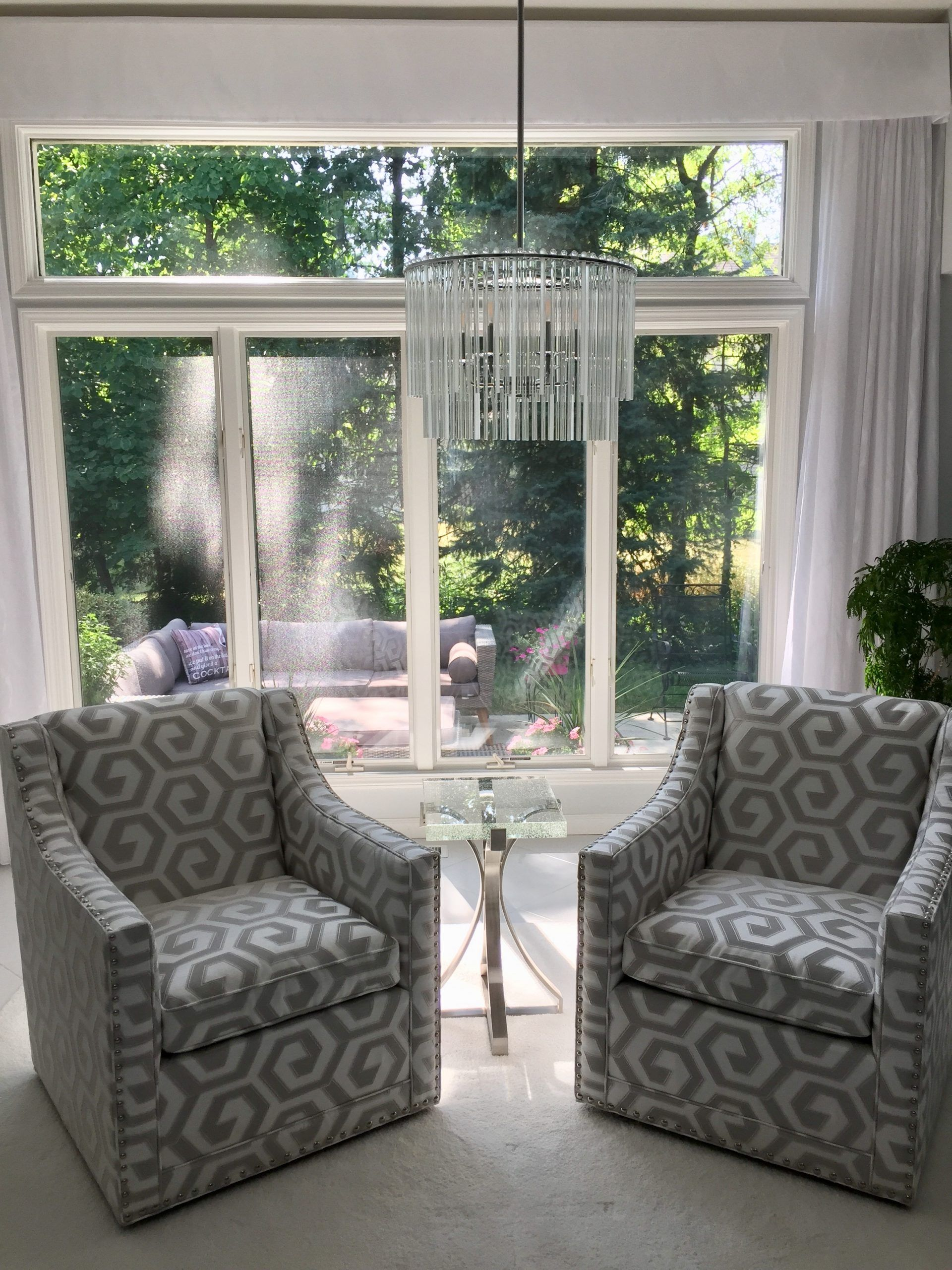 two chairs window
