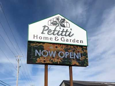 Petitti Home & Garden Outdoor sign