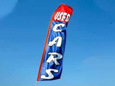 Used cars flag sign