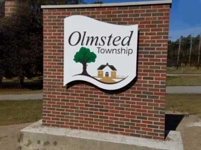 Olmsted Township monument sign