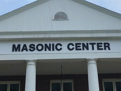 Outdoor acrylic sign for masonic sign