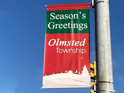 Pole banner for Olmsted Township