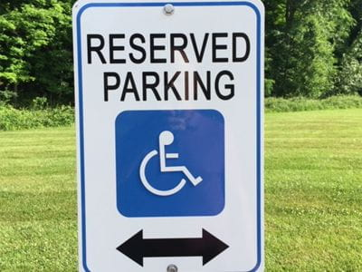 Reserved parking small custom printed outdoor sign