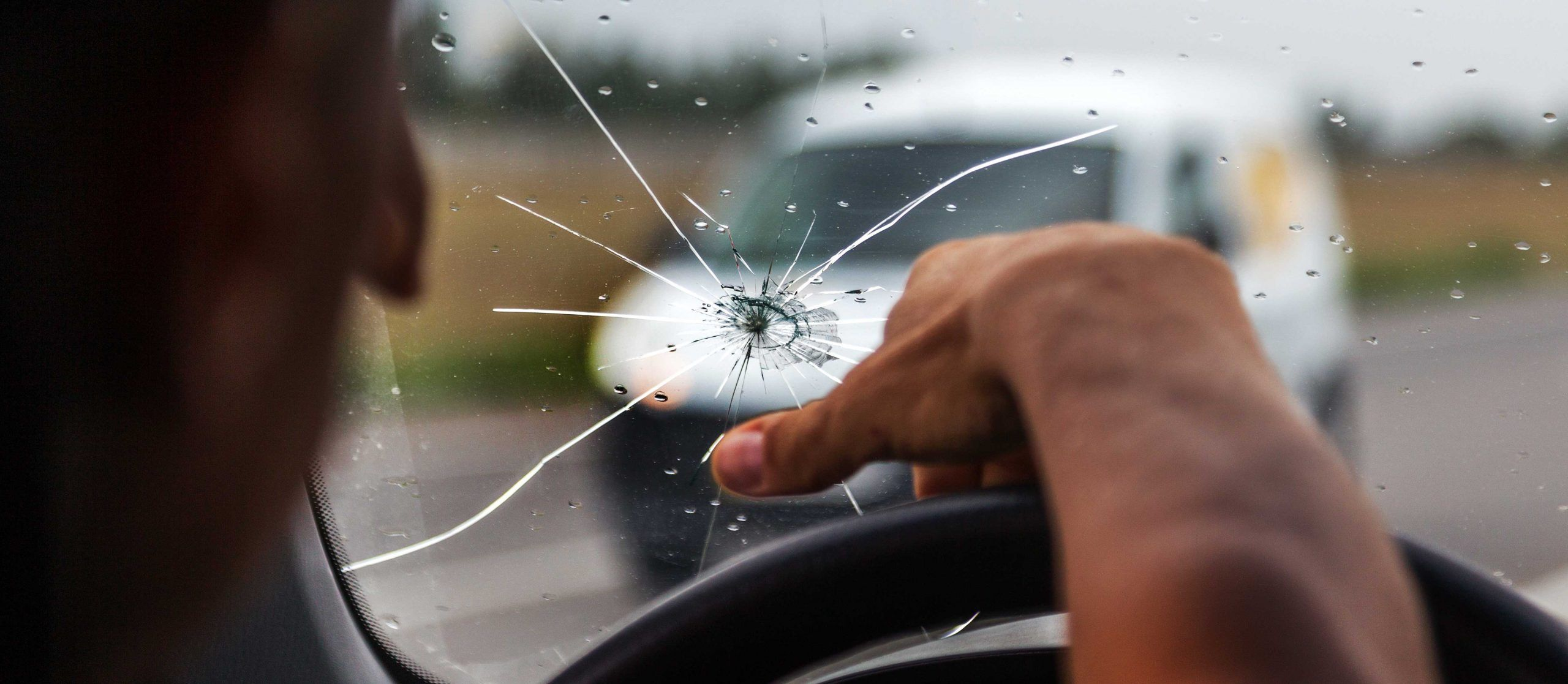 Cracked windshield can lead to a violation