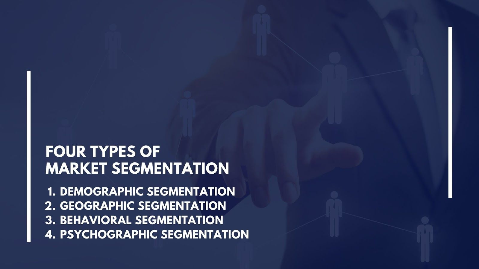What are the 4 types of market segmentation?
